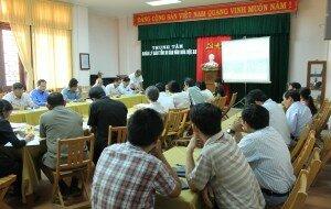 21 April 2015 - Battambang Master Plan Team shared experiences on Heritage Conservation in Battambang Municipality to Vietnamese Team.