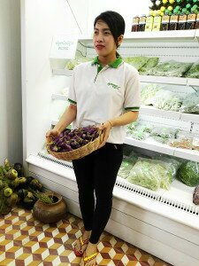Ms. Seng Sophea, the Khmer Organic Cooperative shop assistant