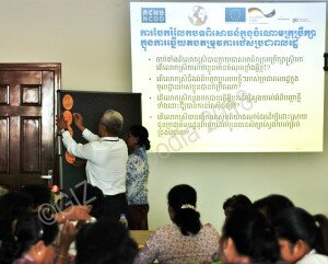 Shared experiences of female councilors are collected by facilitators