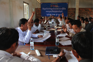 District Council of Boribor District, Kampong Chhnang Province, holding its monthly council meeting