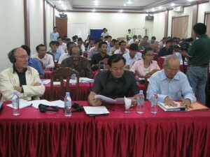 Participants listen during the last consultation workshop on the White Paper on Land Policy