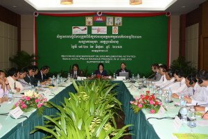 GIZ and the National Audit Authority holding an evaluation meeting in Preah Sihanouk province, June 2013.