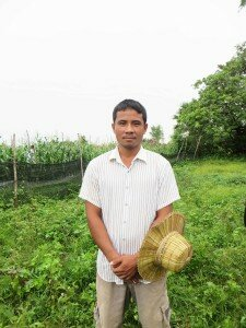 Mr. Sun Song, 32, farmer using Trichoderma, Siem Reap Province, Cambodia.