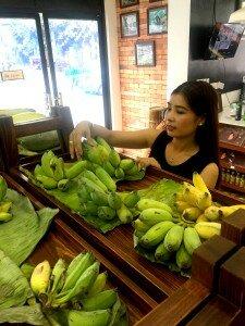 Ms. Chhounso Chenda, a sale manager at the Khmer Organic Cooperative. Photo by: Reth Vicheka