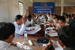 PIC 1 - The District Council of Boribor (Battambang Province) holding its monthy council meeting