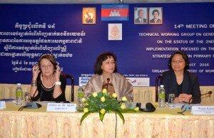 Minister HE Mrs Ing Kantha Phavi delivering remarks.