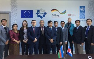 The Cambodian delegation together with representatives from CSC in Azerbaijan