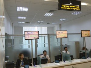 "Visit in one of Azerbaijan's ""One Window Service Offices"" called Asan"