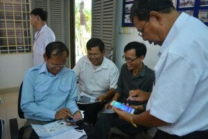 Provincial trainer trained the Lead Nurses on the new online registration system in Pursat province