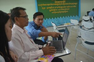 Self-practice of the participants during the training in Siem Reap province
