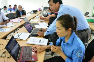 Technical support during the self-practice of the participants Kampong Cham