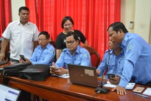 Technical support during the self-practice of the participants in Kampong Thom province