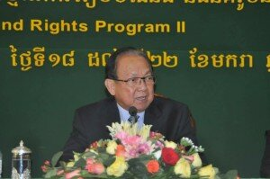 H.E. Senior Minister Im Chum Lim during the closing remarks